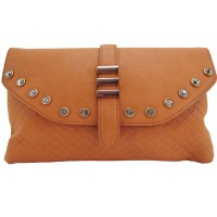 Cartera C/Brillantes Trendy Camel