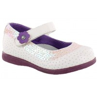 Zapato Casual Croco Kids White/Purple
