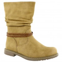 Bota Casual Croco Kids Beige