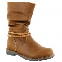 Bota Casual Croco Kids Brown