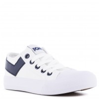 Deportivo Canvas Kids PONY Blanco/Azul