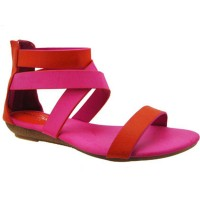 Sandalia Casual Miss Carol Orange/Pink
