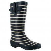 Bota Lluvia Miss Carol Blue/White