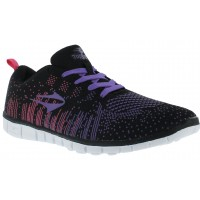 Deportivo Lady Straddle Topper Negro/Purpura