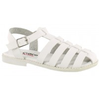Sandalia Casual Croco Kids White