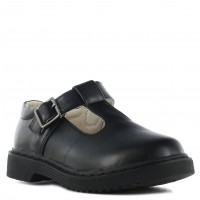 Zapato Colegial Croco Kids Black