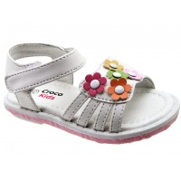 Sandalia Croco Kids White