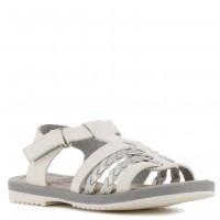 Sandalia Casual Croco Kids White/Silver