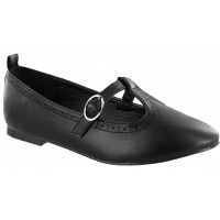Zapato Ballerina Croco Kids Black