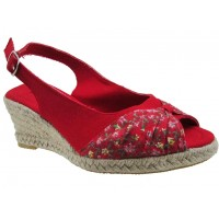 Sandalia Casual A.Giannini Red/Flower