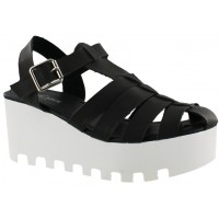 Sandalia Casual Miss Carol Black/White