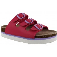 Sandalia Casual MINI Miss Carol Fucsia/White